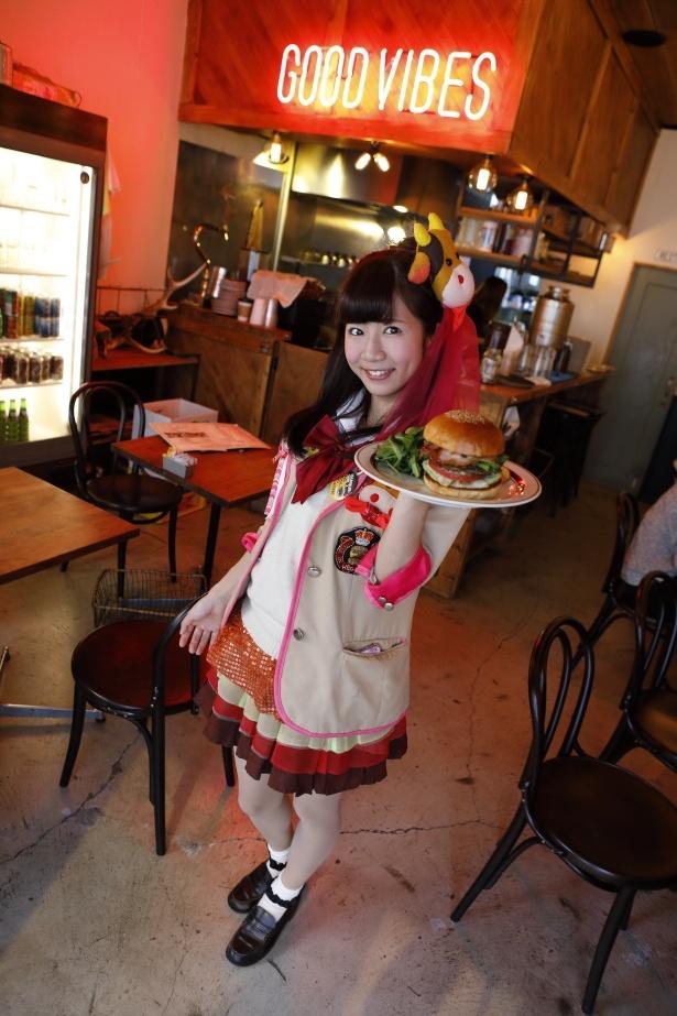「ハンバーガー到着しました!」