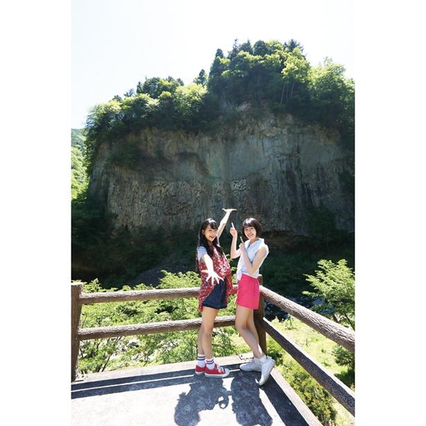 高さが約72m、幅が約120mあり迫力満点!岐阜県の天然記念物に指定されている「巌立峡」