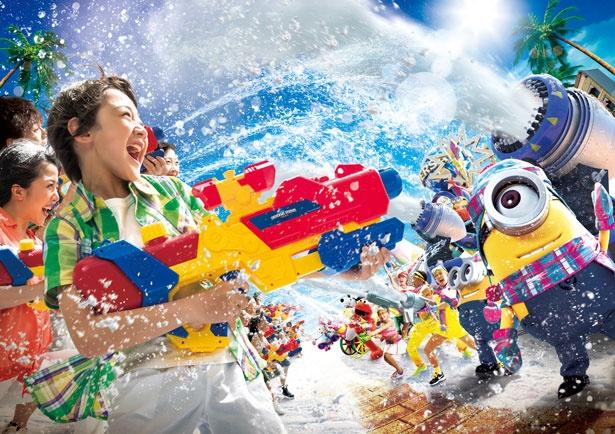 USJで雪と水の夏恒例イベント!ミニオン×麦わらの一味とびしょ濡れで気分爽快