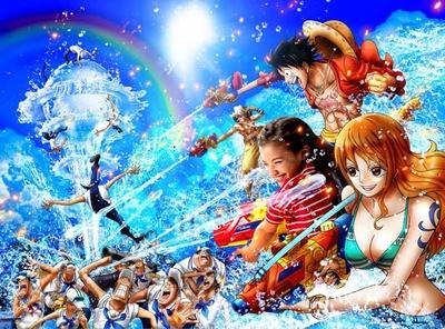 「ワンピース・ウォーターバトル」隠された宝を敵から守るため、強烈な水かけバトルが!/ユニバーサル・スタジオ・ジャパン