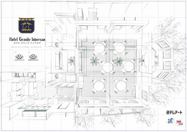 レストラン全体図はこちら!セットデザイン画を公開