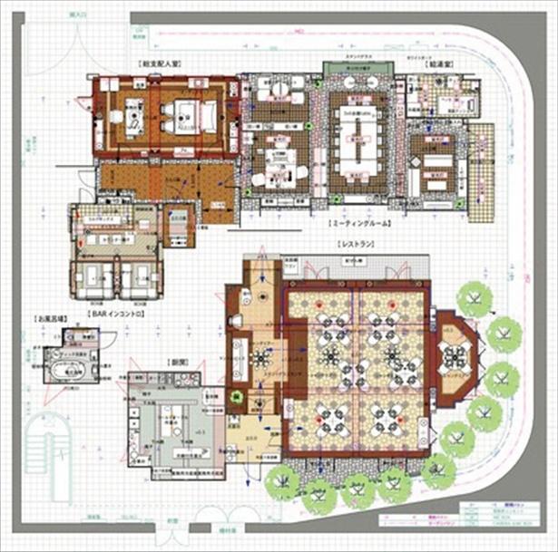 綿密に練られたホテル全体のデザイン画!