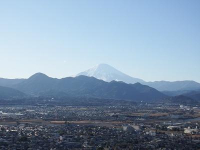 スタート近くのフジの広場からは天気がよければ富士山が拝める