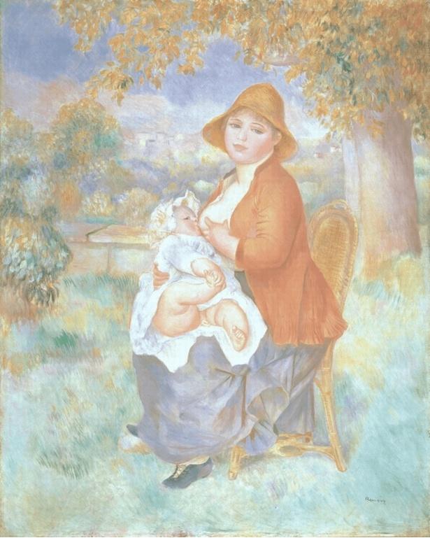 【写真を見る】ピエール=オーギュスト・ルノワール「母子像(アリーヌと息子ピエール)」(1886)