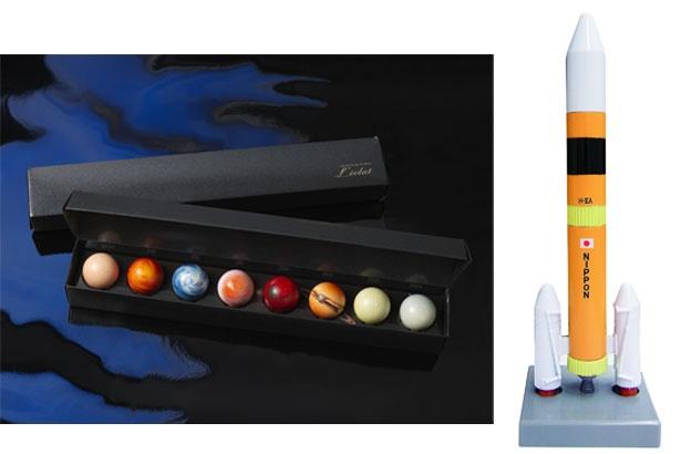 太陽系8惑星をモチーフにした惑星ショコラ、見た目がかっこいいロケットボールペン