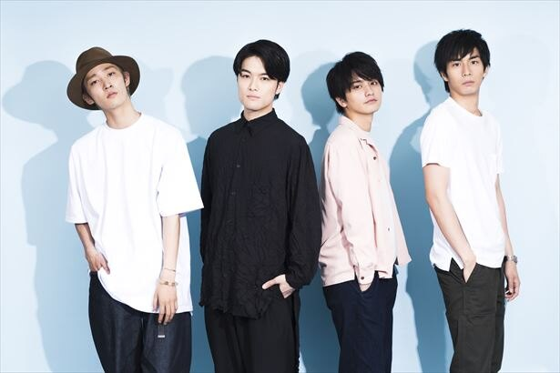 舞台「大きな虹のあとで~不動四兄弟~」に出演する(左から)上杉柊平、入江甚儀、瀬戸利樹、市川知宏