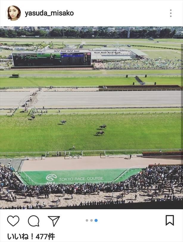 安田が目にしていた「安田記念」開催中の東京競馬場の風景