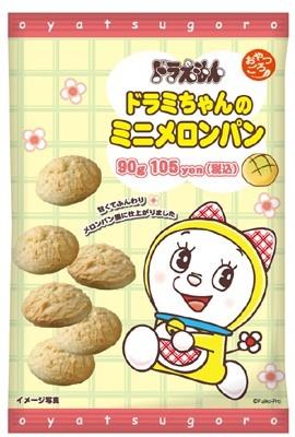 「おやつごろ。ドラミちゃんのミニメロンパン」(105円)