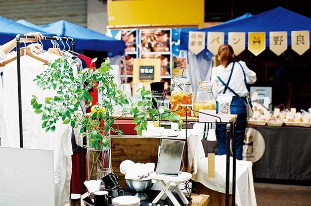 毎月第3日曜日に、柳ケ瀬商店街で開催されている「サンデービルジングマーケット」の様子
