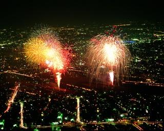 長良川花火大会の様子