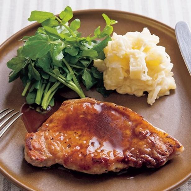 バター&しょうゆの定番味で食べる「やわらかポークソテー」