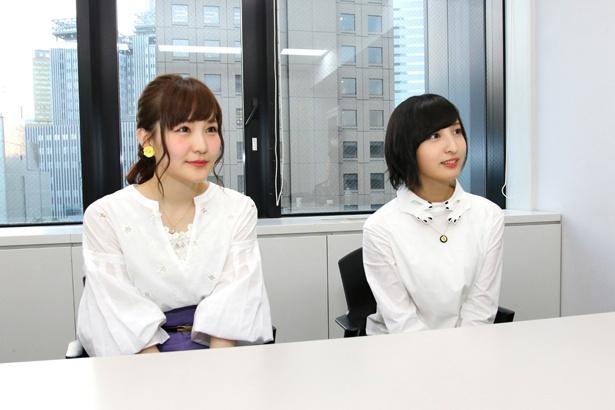 『あさがおと加瀬さん。』で山田と加瀬さんを演じる、声優の高橋未奈美と佐倉綾音にインタビュー