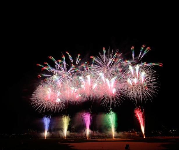 毎年テーマを変えて構成される江戸川区花火大会。今年はどんな花火が飛び出すか期待に胸がふくらむ(写真は2017年開催時のもの)