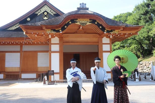 公開日事前ツアーの案内をしてくれた、名古屋おもてなし武将隊!