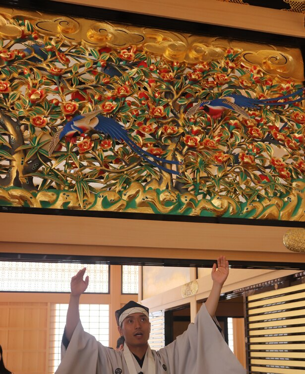 名古屋おもてなし武将隊・家康公が欄間の説明をしてくれた!