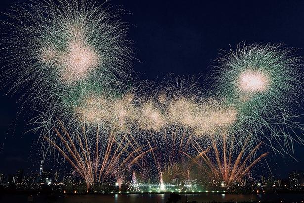 東京の夏花火、一番乗り