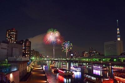 【写真を見る】関東随一の伝統と格式を誇る「隅田川花火大会」