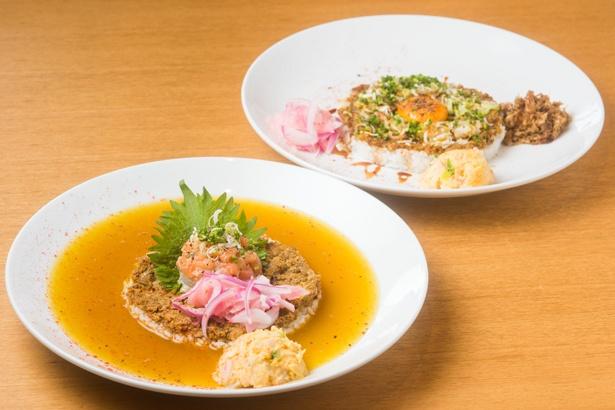 【写真を見る】手前が看板メニューの「シャリランカカレー」(950円)で、奥が「すし屋のドライカレー」(800円)。どちらのご飯にも、寿司と同じシャリが使われている