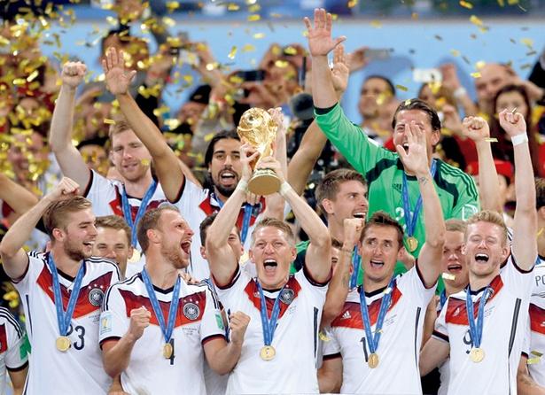 前回大会で優勝を飾ったドイツ代表