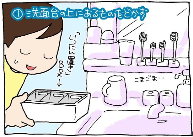 【イラストで見る】洗面所掃除、まずはここから