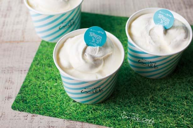 「ミルキークリームのふわとろシフォンケーキ」(1個600円)/生クリーム専門店 MILK なんばCITY店