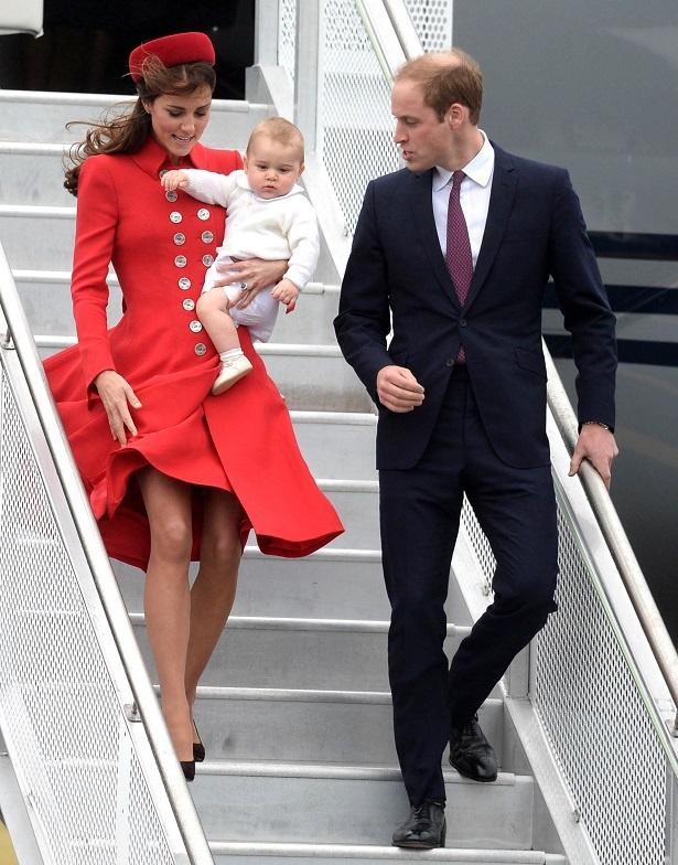 2014年4月7日、NZ訪問時にスカートが捲れるハプニングを経験したキャサリン妃
