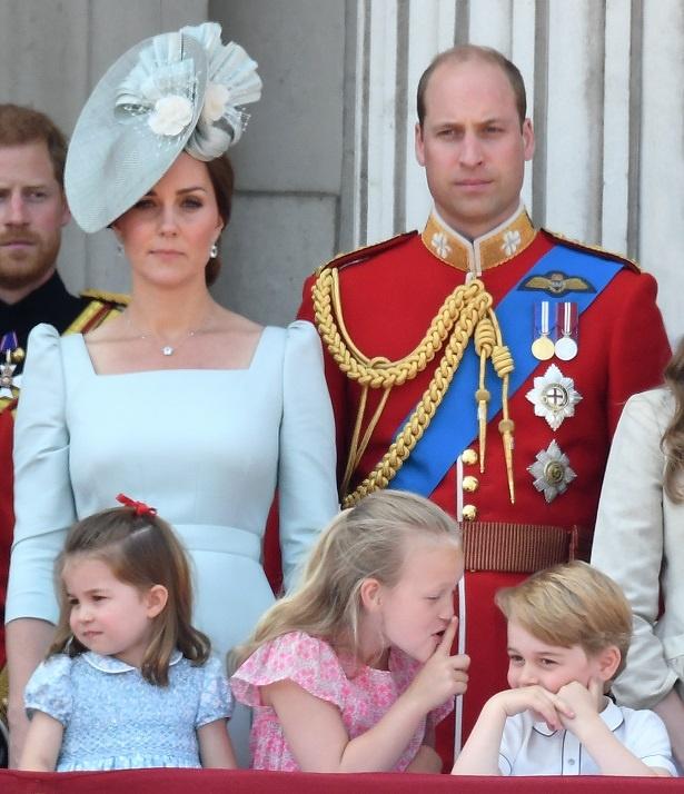 騒ぐジョージ王子を注意しようとしたようだ