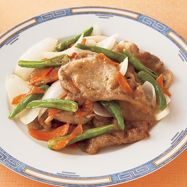 「豚肉のさっぱり甘酢炒め」