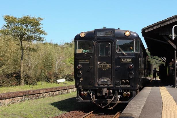 イケメン列車として人気。特急「はやとの風」