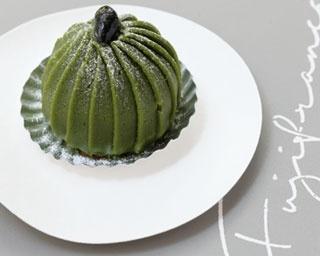 「しぼりたてモンブランディープグリーンティー」(560円)/Fujifrance