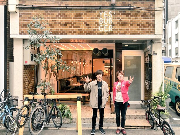 「キュウソネコカミ」のヤマサキセイヤさんと本町「イエス!バーガー」へ!