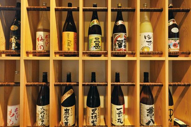 淡路島の地酒をはじめ、お酒の種類も豊富にそろう