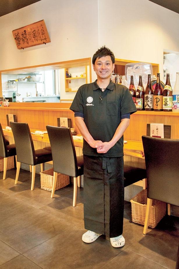 「和洋さまざまな創作メニューでおもてなしします」と店主の林 俊介さん