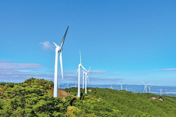 青山高原の景観を壊さない風車群。なんと一般家庭約5万5千世帯分のクリーンエネルギーを生む