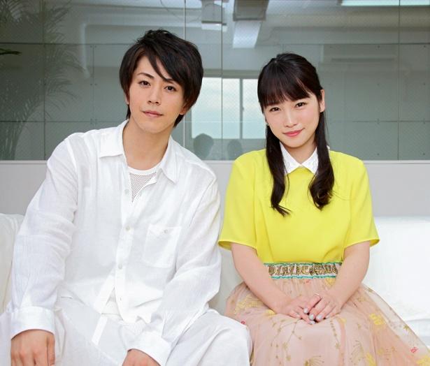 舞台「カレフォン」でW主演を務める廣瀬智紀と川栄李奈