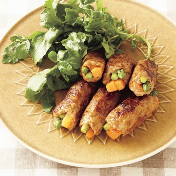 「2色野菜の肉巻きソテー」