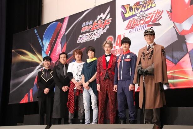 藤井隆、勝村政信、赤楚衛二、犬飼貴丈、伊藤あさひ、結木滉星、田中直樹(写真左から)