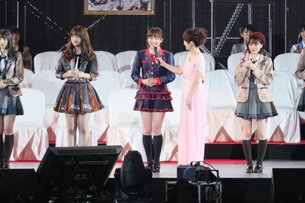 鎌田菜月(中央)「SKE48ファンの皆さん、嫁いでくるつもりで応援お願いします。絶対に幸せします!」