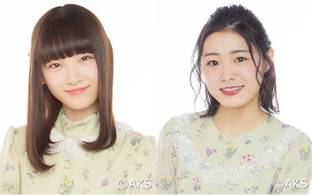 【写真を見る】初ランクインで初選抜を狙う太野彩香(左)と長谷川玲奈(右)