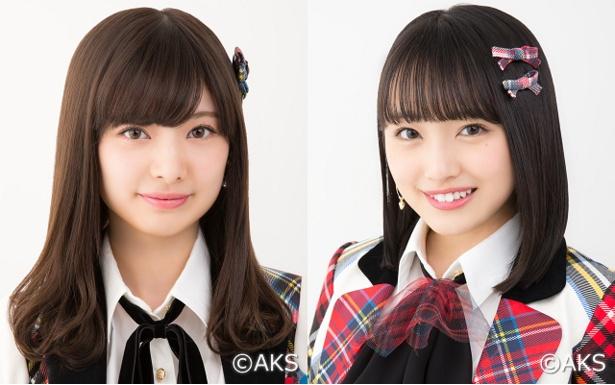 2年ぶりの選抜復帰を狙う武藤十夢(左)と向井地美音(右)