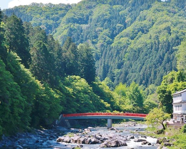 飯盛山と待月橋