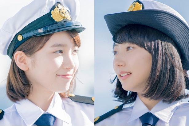 ドラマ「マジで航海してます。~Second Season~」(TBSほか)で主演を務める飯豊まりえ(左)と武田玲奈(右)