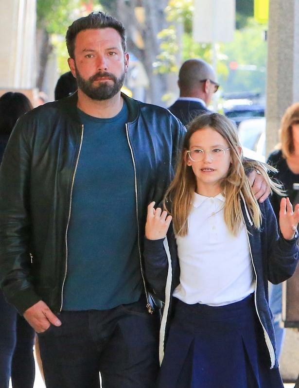 ベン・アフレックと長女のヴァイオレット・アン