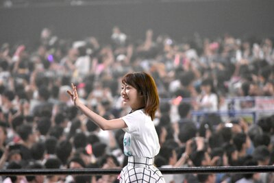 HKT48の宮脇咲良さん (AKB48グループコンサートより)