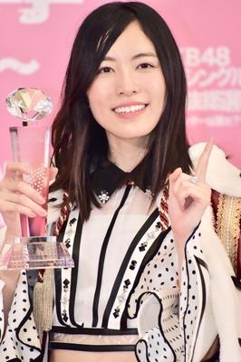 総選挙1位の松井珠理奈さん(SKE48)