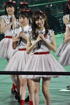 NGT48 の山口真帆さん (AKB48グループコンサートより)
