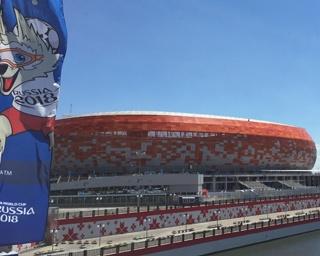 日本vsコロンビア戦の会場となるサランスクのスタジアム