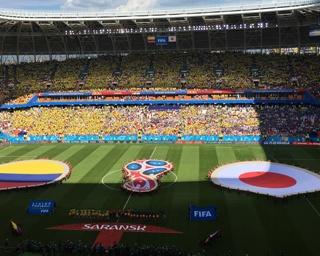ロシアW杯初戦、日本はコロンビアで2-1で勝利