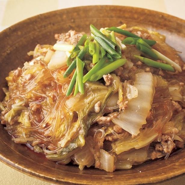 【関連レシピ】豚ひきと白菜の酸辣湯風炒め