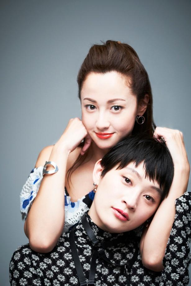 『猫は抱くもの』で共演した沢尻エリカとコムアイ(水曜日ノカンパネラ)